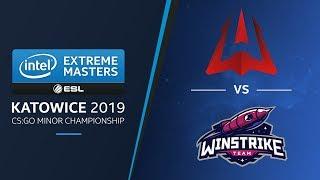 CS:GO - AVANGAR vs. Winstrike [Dust2] Map 1 - UB Final - IEM Katowice EU Minor 2019