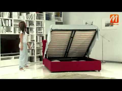 Кровать двуспальная Киев купить, цена, с подъемником  Украина с местом для белья HERA, итальянская