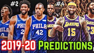 Predicting The NBA's 2019-20 Eastern And Western Conference Standings