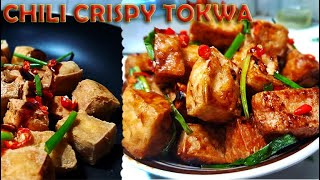 Spicy crispy Tofu (tokwa) with oyster sauce || D'best pulutan || Quick and easy recipe