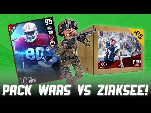I PULLED A LEGEND IN A PRO PACK!! PACK WARS VS. ZIRKSEE!!! - Madden 17 Ultimate Team