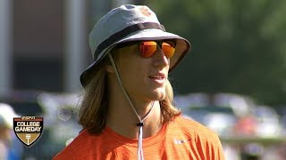 Clemson's Trevor Lawrence mentors young QBs at the Manning Passing Academy | College GameDay