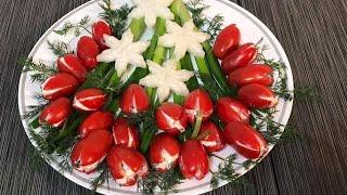 Праздничная закуска из помидор черри Потрясающе вкусно и быстро