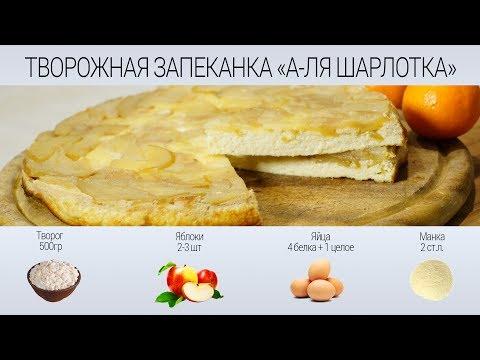 РЕЦЕПТ ТВОРОЖНАЯ ЗАПЕКАНКА «А-ЛЯ ШАРЛОТКА» с яблоками. — Рецепт шарлотки с творогом