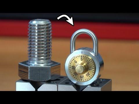 Cadeado de combinação com parafusos de aço inoxidável