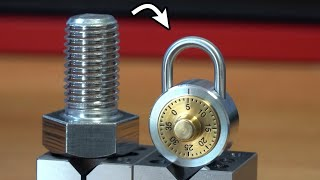 Turning Stainless Steel Bolts into a Combination Lock