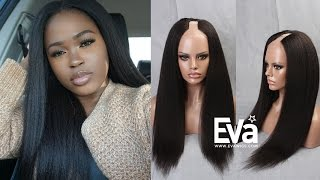 Video How To Style EvaWigs Kinky Straight U-part Wig(u018) By peakmill | EvaWigs Tutorial download MP3, 3GP, MP4, WEBM, AVI, FLV Maret 2018