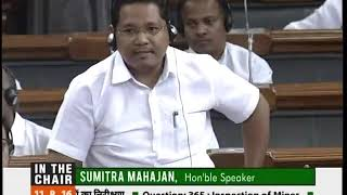 Shri Conrad K. Sangma speaking at the Lok Sabha