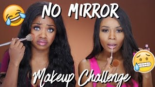 NO MIRROR Makeup Challenge w/ Zuri Hall
