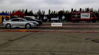 2jz Toyota Supra VS Audi A4 1.8T 1/4mile drag race