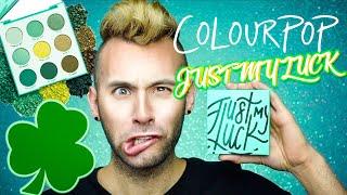 NO BULLSH*T ColourPop JUST MY LUCK Palette Review | St. Patrick's Day
