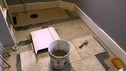 Rapid set tile mortar installation