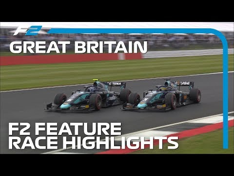 Formula 2 Round 7 Feature Race Highlights | 2019 British Grand Prix