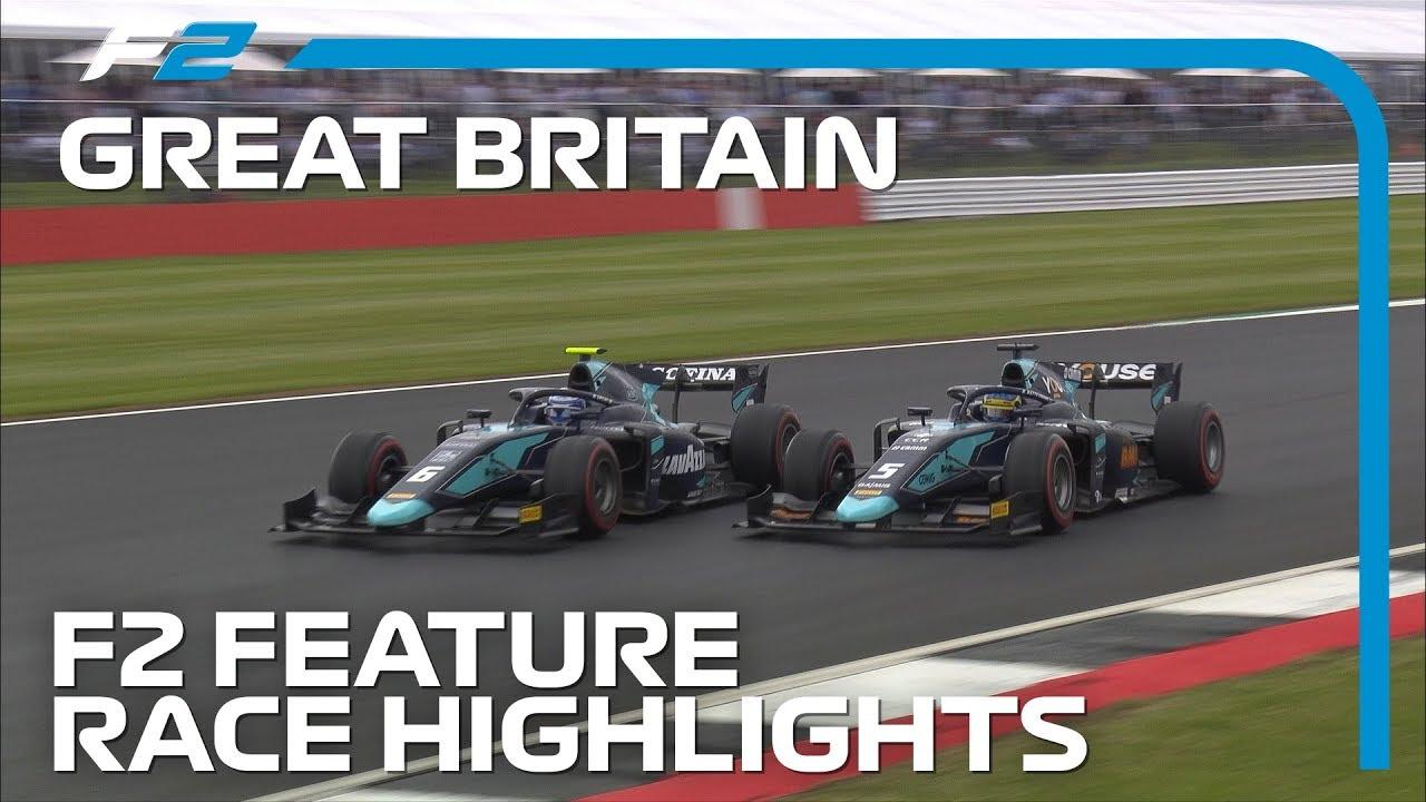 Formula 2 Round 7 Feature Race Highlights | 2019 British Grand Prix