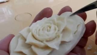 Роза и Мыло вырезаем розу на мыле  карвинг по мылу