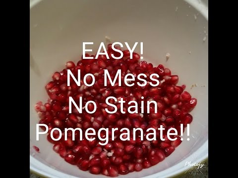 EASY Clean and Fast way to get Pomegranate seeds!