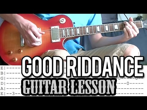 Green Day - Good Riddance (Time Of Your Life) - Guitar Lesson With Tabs