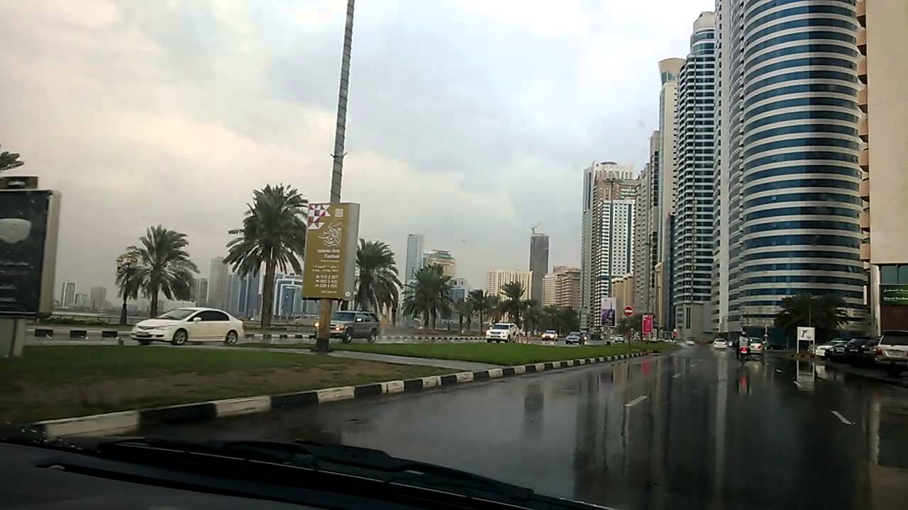 Rainy Weather In Sharjah YouTube