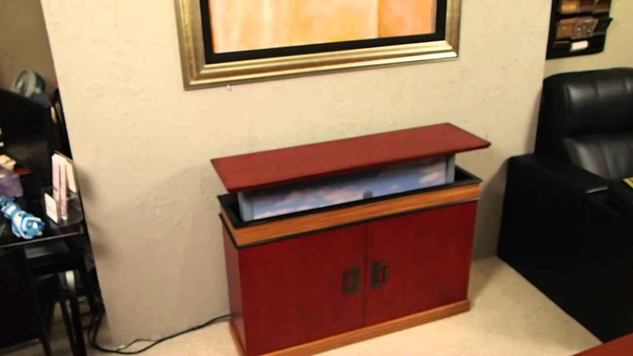 trunk pop - up tv cabinet - youtube