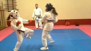 Training  for tournament kumite