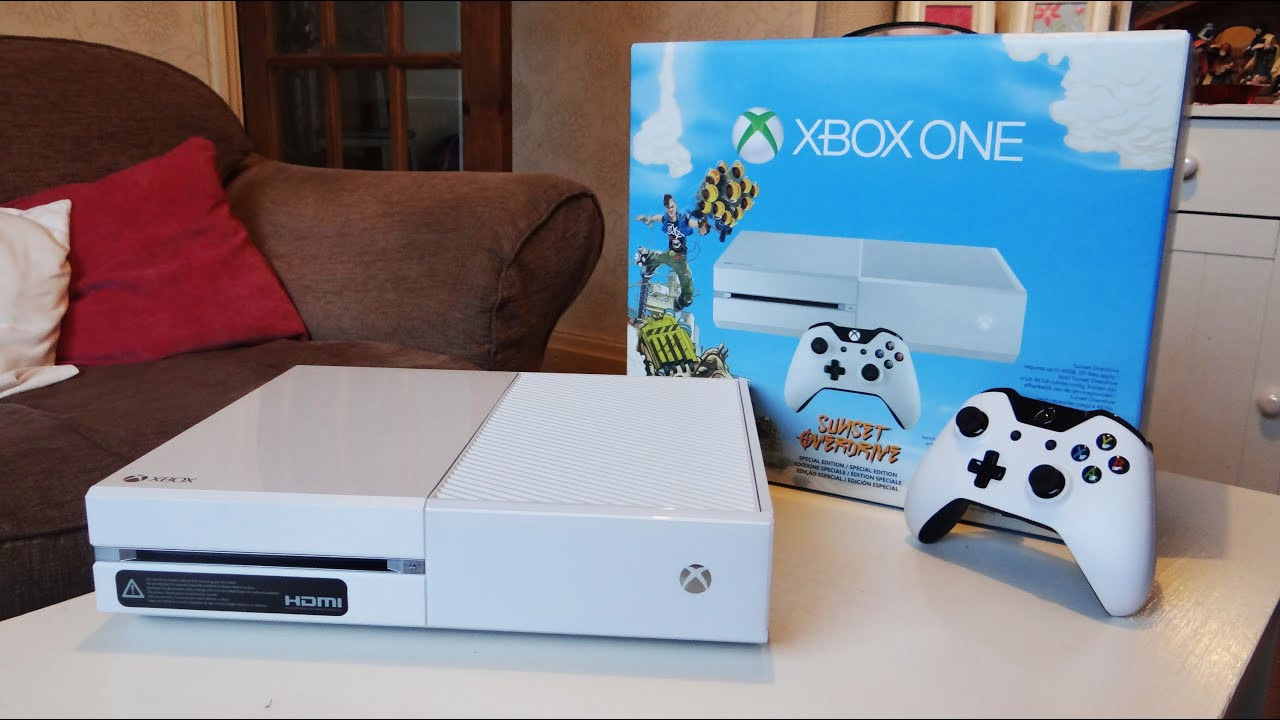 White Xbox One Unboxing (Sunset overdrive edition) - YouTube