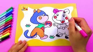 ĐỒ CHƠI TRẺ EM_Tô màu con vật đáng yêu_COLORING FOR KIDS_Color animals
