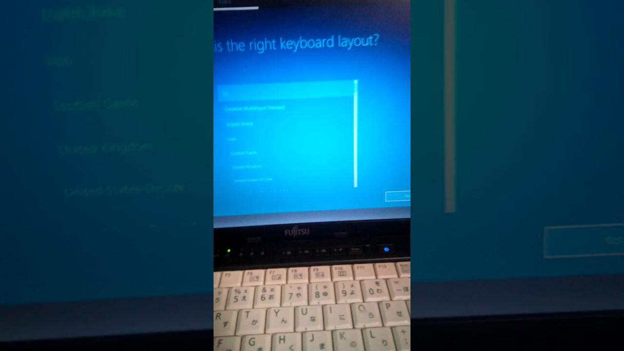 windows 10 recovery stuck at keyboard layout
