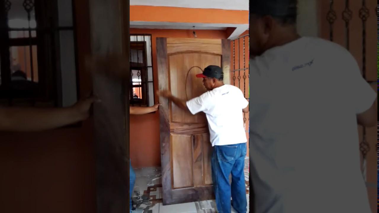 Como instalar puertas de madera youtube for Instalacion de puertas