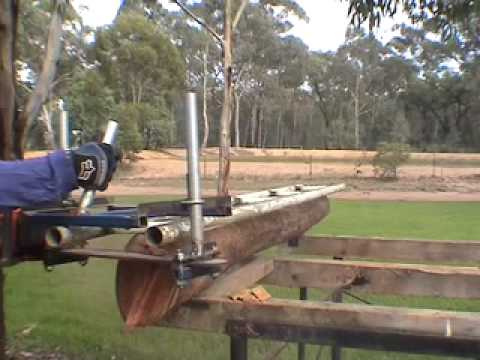 Chainsaw Mill Aussie Style Youtube