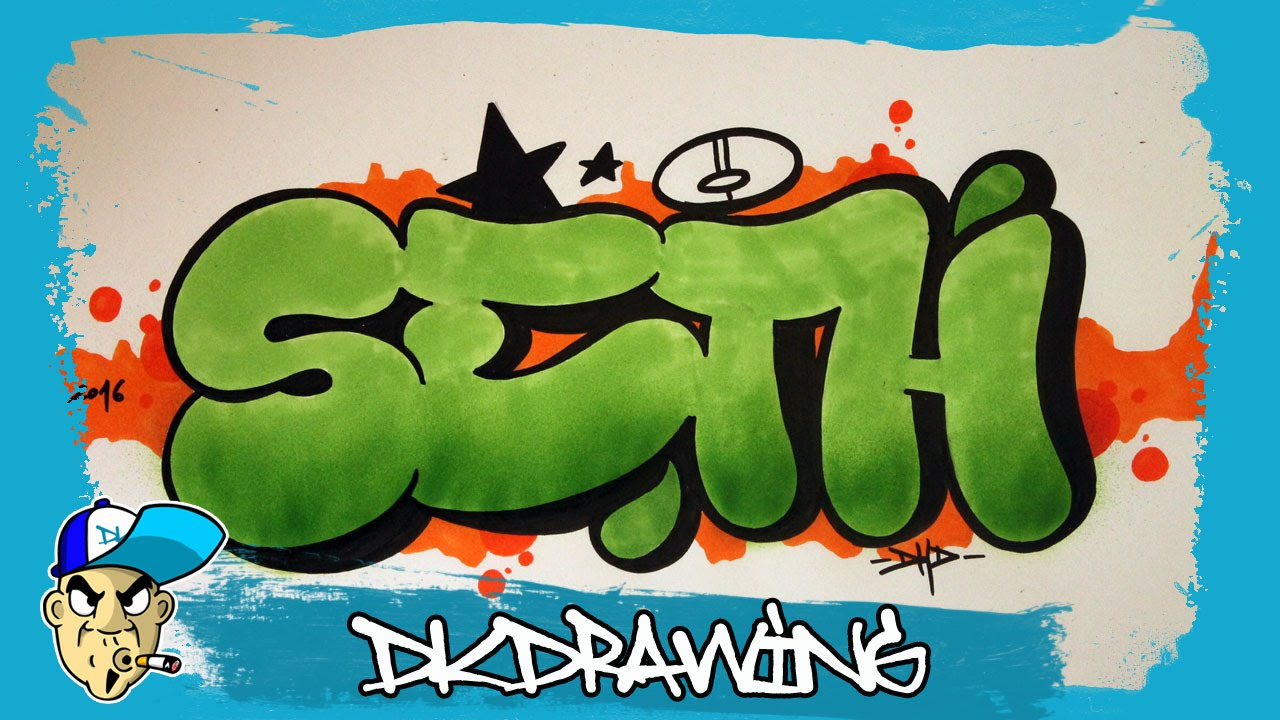 How to draw graffiti names seth 20 youtube