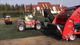 REVITALIZACE SPORTOVIŠŤ - Strojní demontáž umělého trávníku 3. generace