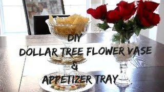 DIY Dollar Tree Appetizer Tray & Flower Vase | I AmTeeJaay #homedition