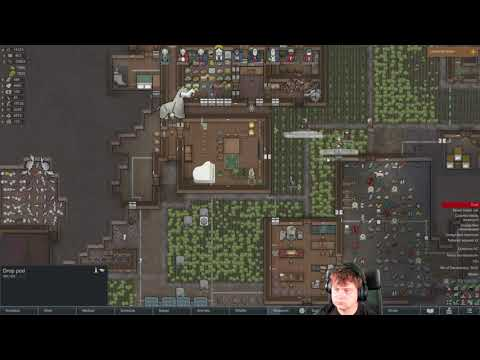 A mechanoid drop on top of my head! | RimWorld 1st game |