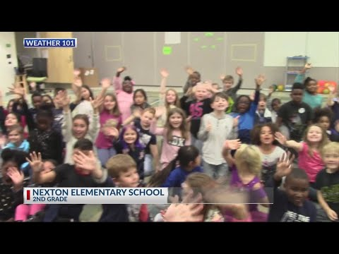 Rob Fowler visits the 2nd graders at Nexton Elementary School for Weather 101