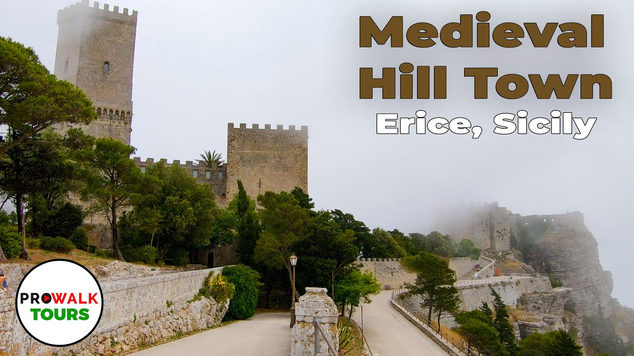 Erice, Sicily Walking Tour - 4K - With Captions!