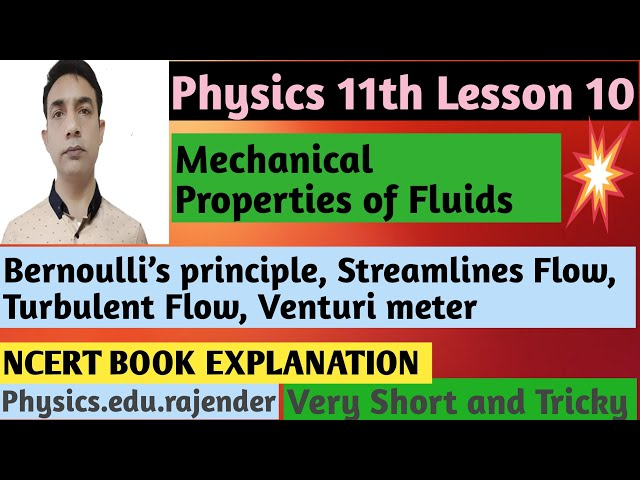 Video 2 ||Physics 11th Chapter 10 ||Mechanical property of fluids ||