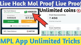 MPL App Unlimited Tricks Unlimited Cash In Coins Live Hacked Proof