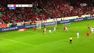 Zvicer 2 - 0 Shqiperi 11-09-2012 (RSI LA2 HD) Kualifikimet Boterori Brazil 2014  (pjesa e pare)