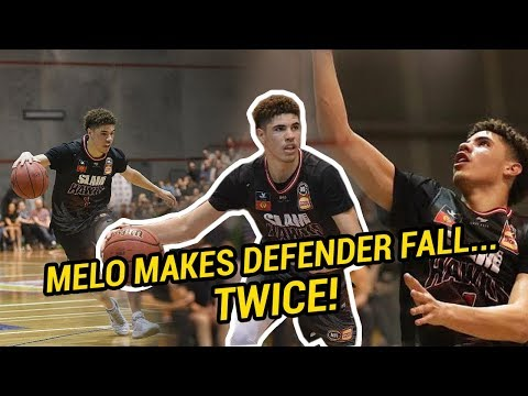 LaMelo Ball DESTROYS Australian Defender TWICE In First Regular Season Game! #1 NBA Draft Pick!?