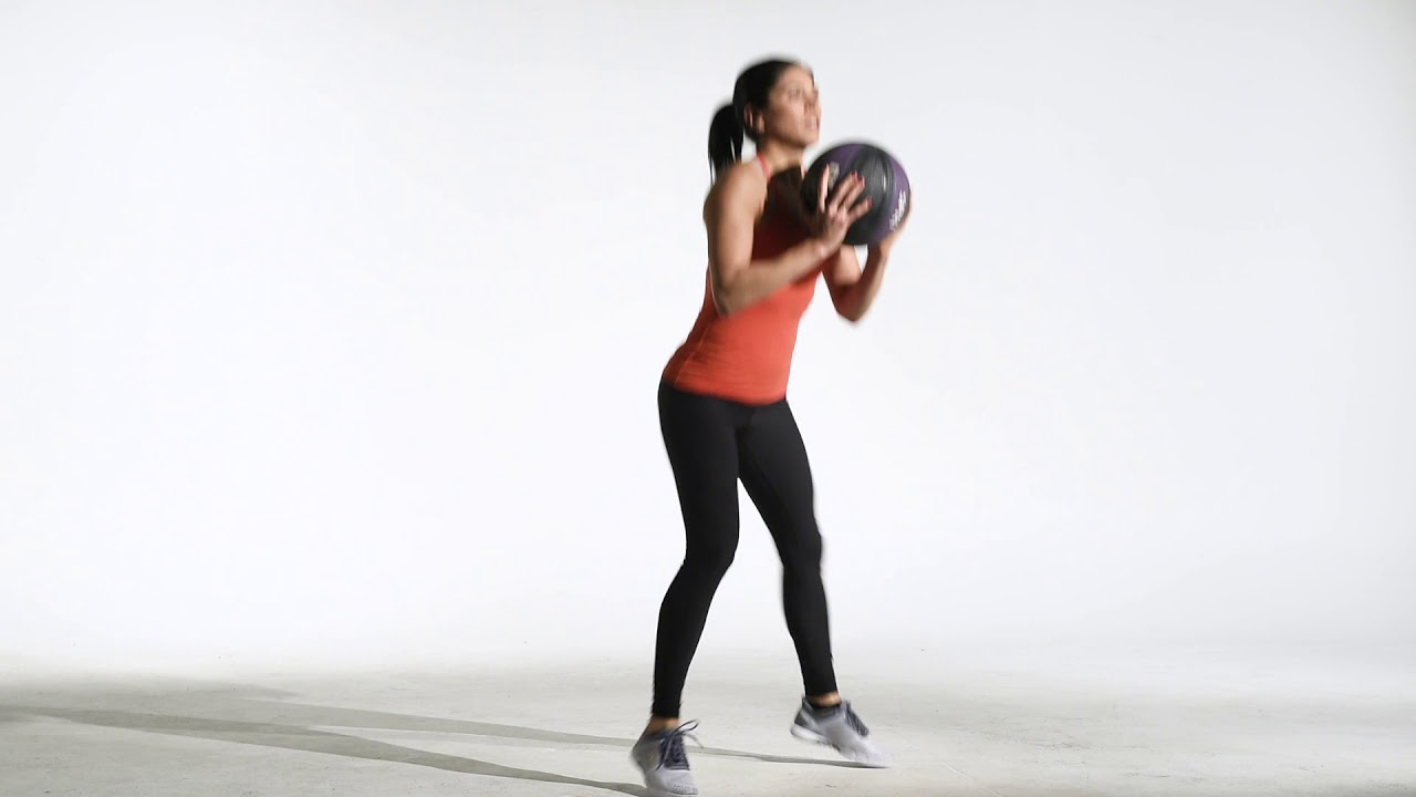Medicine Ball Jumping Squat Jack X Hop | Legs for Days | 24Life