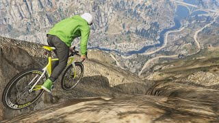 HUGE MOUNTAIN CYCLE JUMP!(GTA 5 Funny Moments)