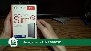 обзор  Seagate 2TB backup plus  STDR2000201