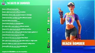 How To Get ALL! FREE! 14 Days Of Sommer Rewards! in Fortnite! (14 days of sommer event)