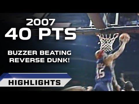Vince Carter Buzzer Beating Reverse Dunk vs Charlotte Bobcats (03.24.2007)