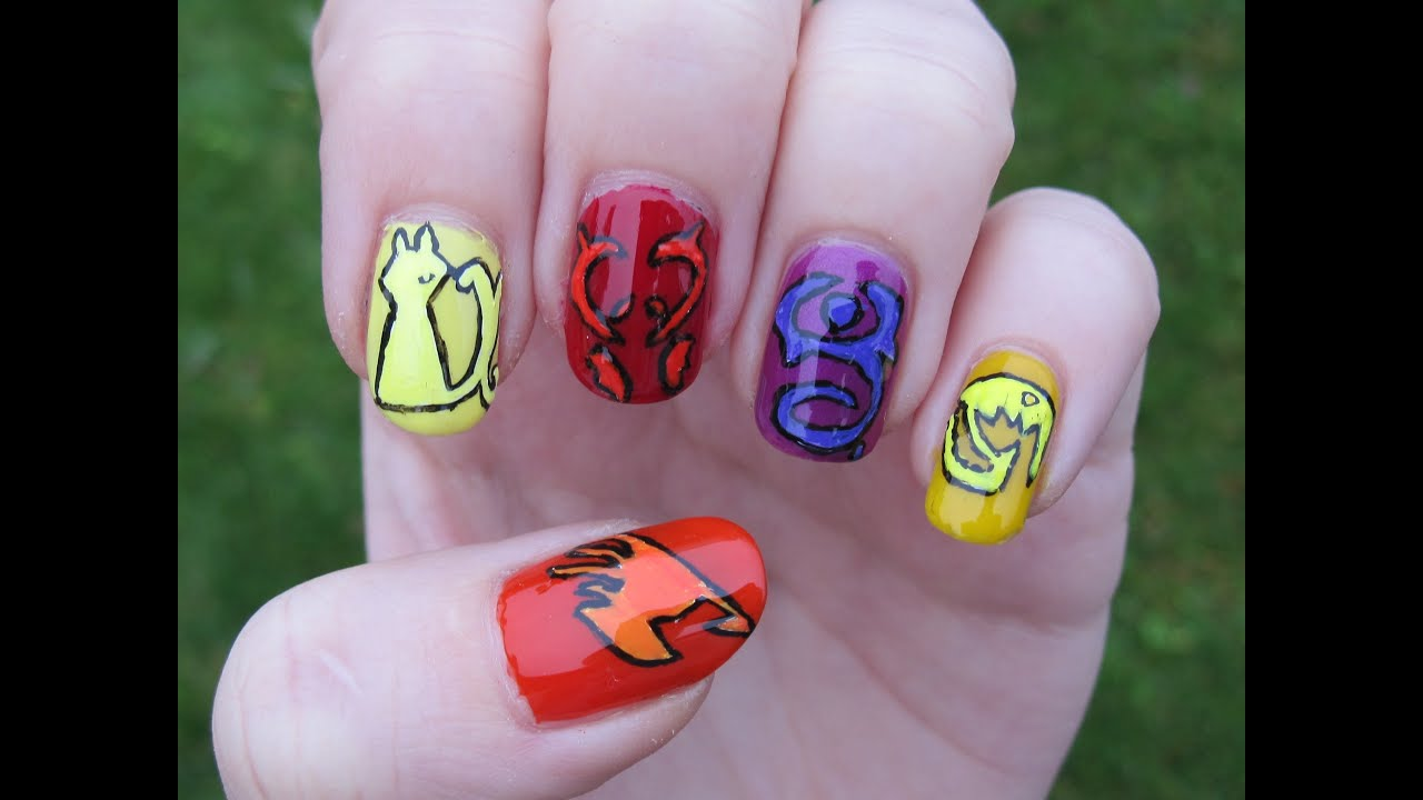 Fairy Tail nail art - YouTube