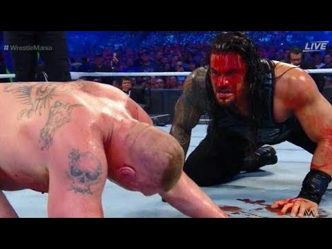 [Wrestlemania] Roman Reigns Vs Brock Lesnar Universal Title Match Full HD