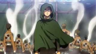 Shingeki no Kyojin 15 Hanji(ハンジ) and Titans