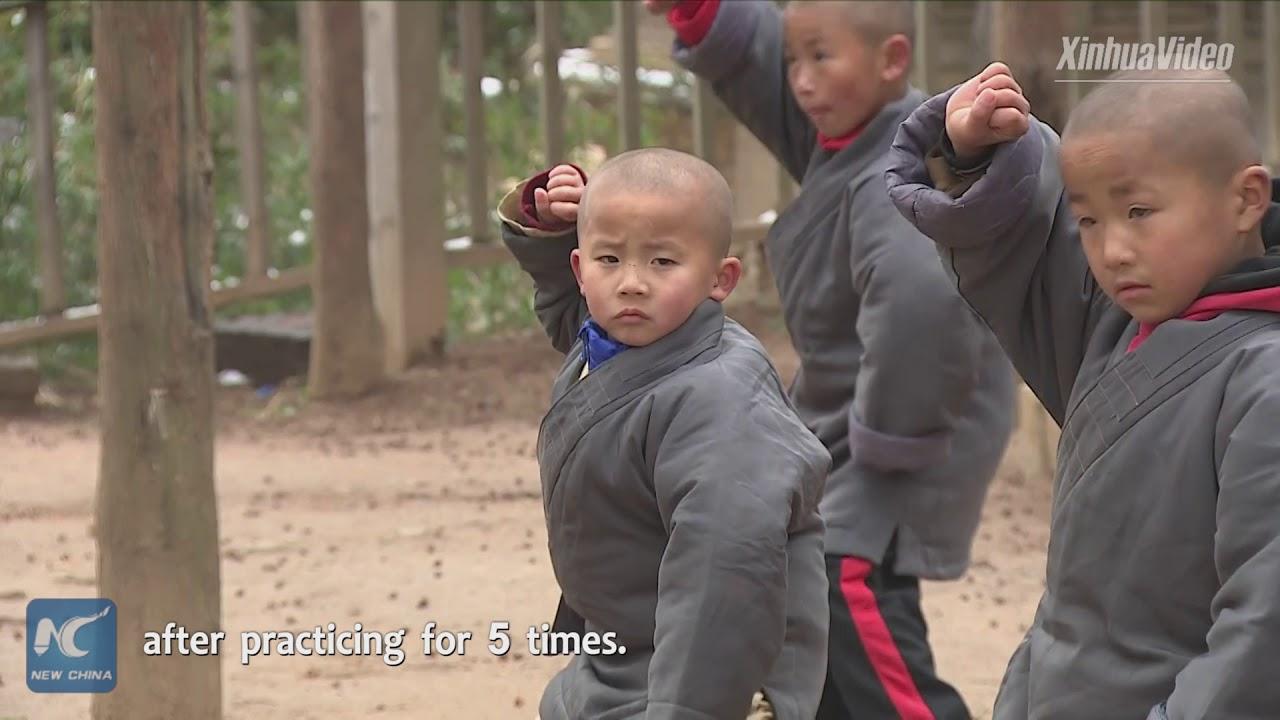 Download 5-year-old Kung Fu boy learns martial arts at China's Shaolin Temple