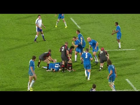 Namibia's second rows link up for sensational try