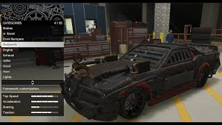 GTA 5 - Arena War DLC Vehicle Customization - Apocalypse Dominator (Death Race Mustang) and Review